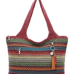 NWOT THE SAK CLASSIC CROCHET GYSPY STRIPE purse